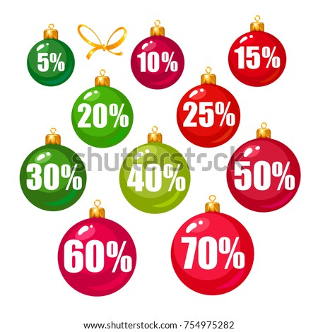 set of discount tags 10 15 20