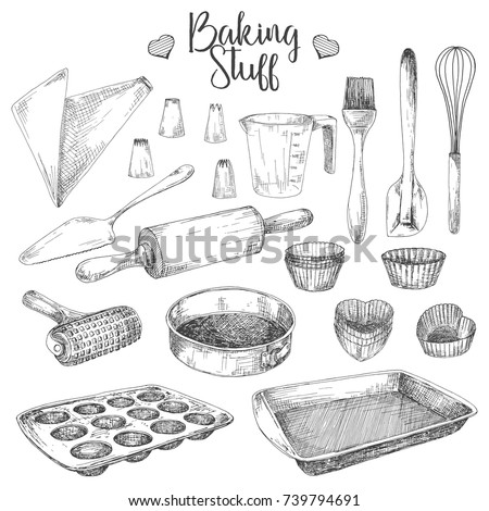 set of dishes for baking
