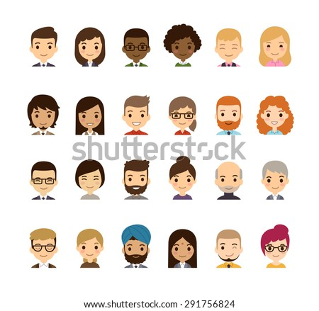 set of diverse avatars