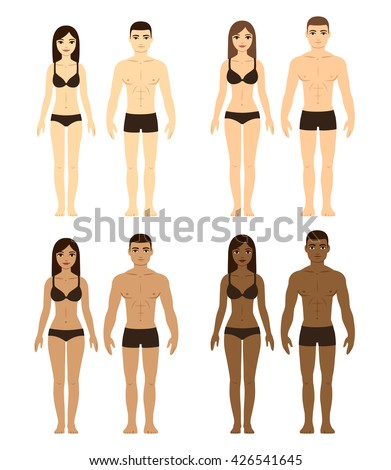 set of diverse couples men and