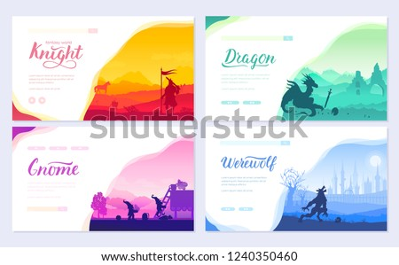 set of diverse fantasy worlds