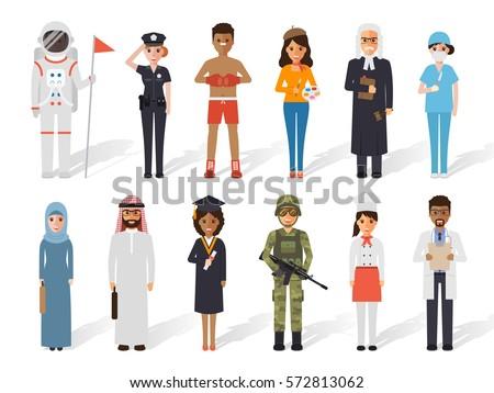 set of diverse occupation