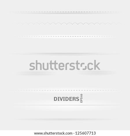 set of dividers design