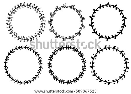 Cute Decorative Round Frames Set - Download Free Vector Art, Stock ...