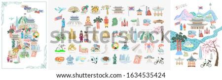 set of 50 doodle vector