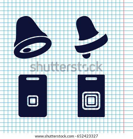set of 4 doorbell filled icons