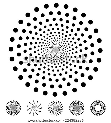 stock-vector-set-of-dotted-elements-on-white-background
