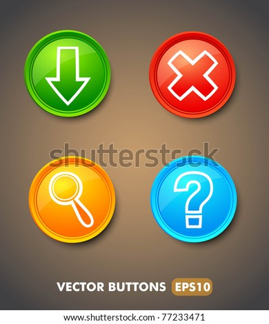 Set of download buttons for web