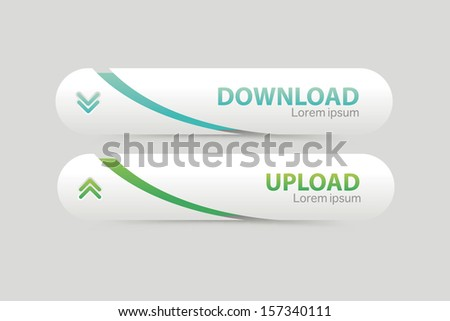 Set of download buttons with modern clean design.