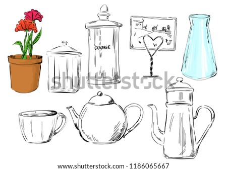 Kitchen Vector Items Background Download Free Vector Art Stock