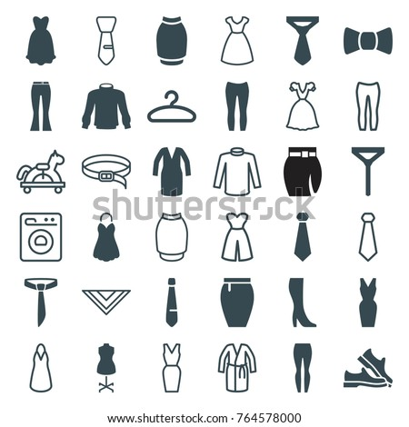 set of 36 dress filled and