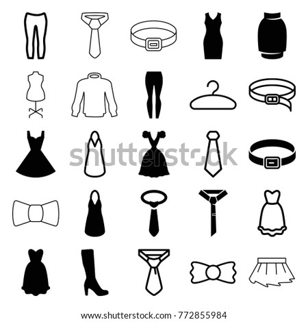 set of 25 dress filled and