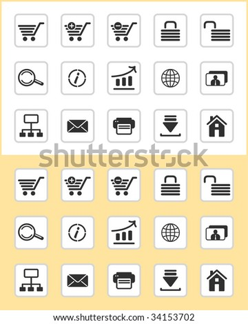 Set of e-commerce icons - stock vector