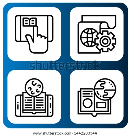 Set of e-learning icons such as Elearning, Learning, Online learning , e-learning