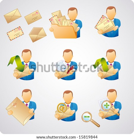 set of e-mail users, good for web-design, business concepts and computer icons
