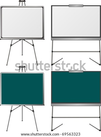 set of easels. first variant. vector illustration