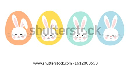 set of easter bunny rabbits
