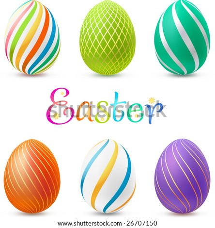 Set of easter eggs. Contains gradient mesh elements, lots of detail!
