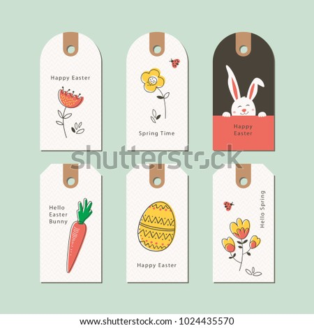 set of easter gift tags