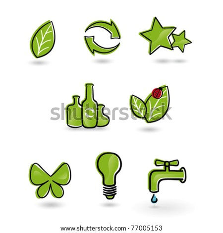 Set of eco friendly icons