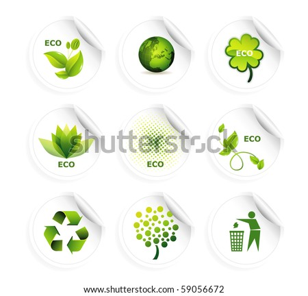 Set of ecology icons eps10