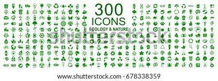 set of 300 ecology icons