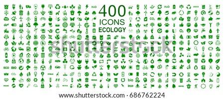 set of 400 ecology icons  ...