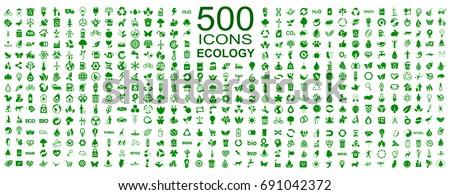 set of 500 ecology icons  ...