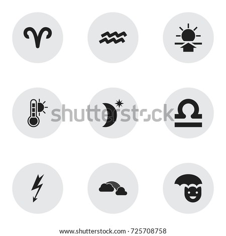 set of 9 editable air icons