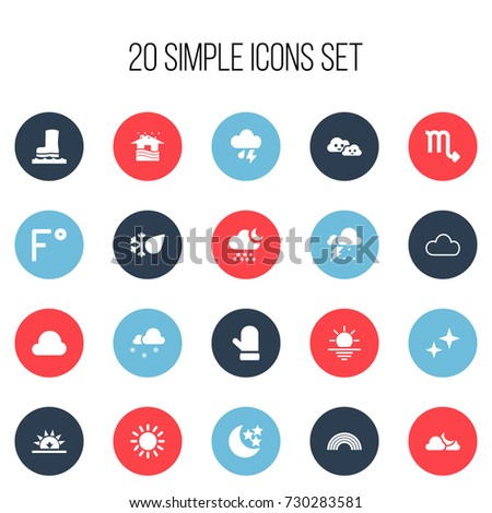 Set Of 20 Editable Air Icons. Includes Symbols Such As Thunderstorm, Storm, Cloudy And More. Can Be Used For Web, Mobile, UI And Infographic Design.