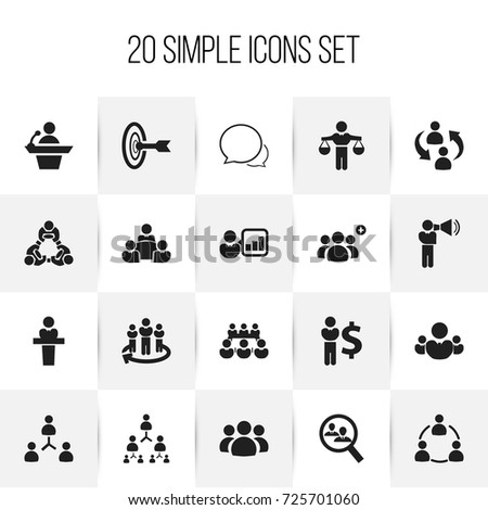 set of 20 editable community