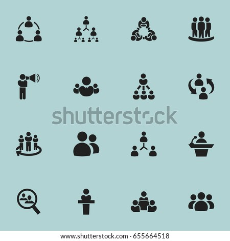 set of 16 editable community