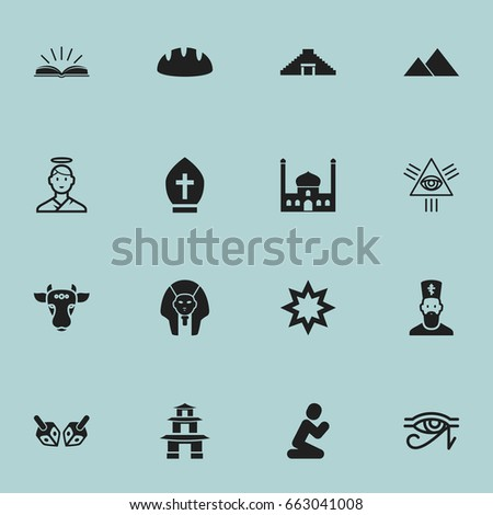set of 16 editable dyne icons