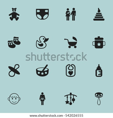 set of 16 editable  icons