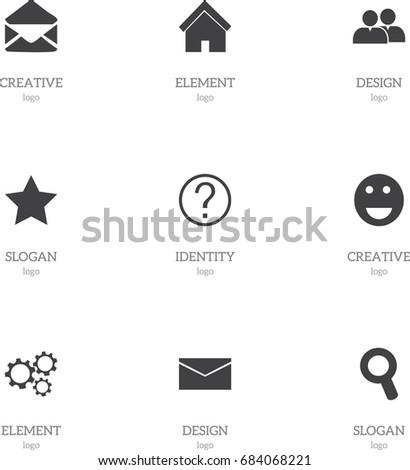 set of 9 editable internet