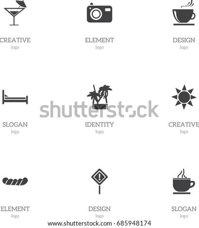 set of 9 editable journey icons