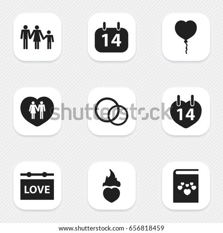 set of 9 editable passion icons