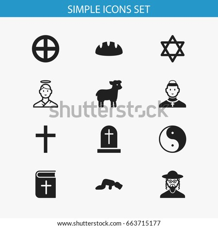 set of 12 editable religion