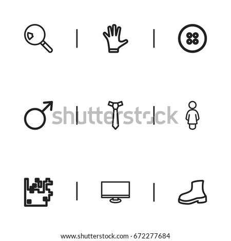 set of 9 editable trade icons