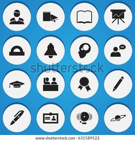 set of 16 editable university