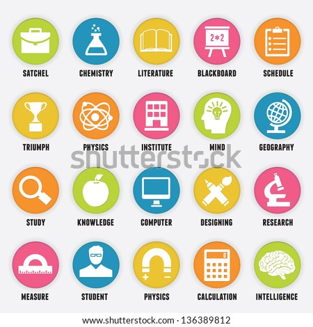 Set of education icons - part 1 - vector icons