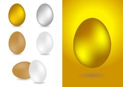 set of egg vector illustrations