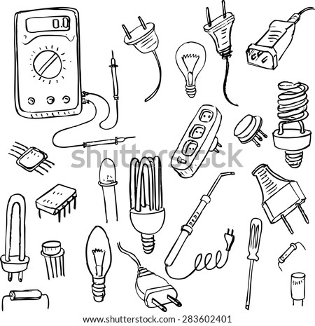 6 El Circuit Electric I L Electricitat together with Stock Vector Set Of Electrical Doodle Objects Hand Drawn Vector Design Elements also Showthread likewise Diy Wind Power Kit together with UNPh33. on electric circuit project