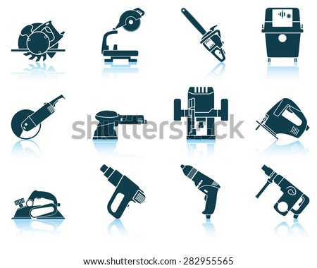 Set of electrical work tool icon. EPS 10 vector illustration without transparency.