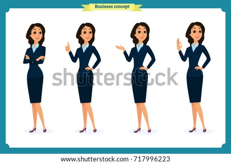 set of elegant business women