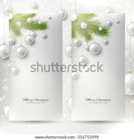 set of elegant christmas
