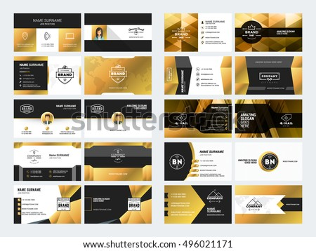 Black And Gold Business Card Download Free Vector Art Stock