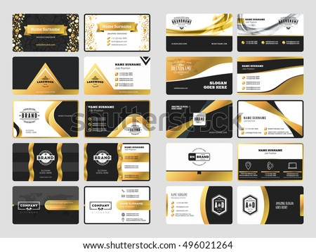 Black And Gold Luxury Abstract Business Card Download Free Vector