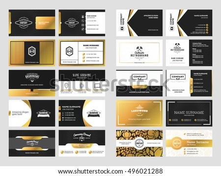 Black business card vector template download free vector art set of elegant double sided business card templates with logotype elements black and gold colourmoves