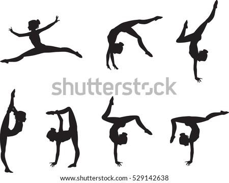 Female Gymnast Silhouette Executing a Flip — SportsArtZoo   Female gymnast,  Gymnastics wallpaper, Gymnastics tattoo